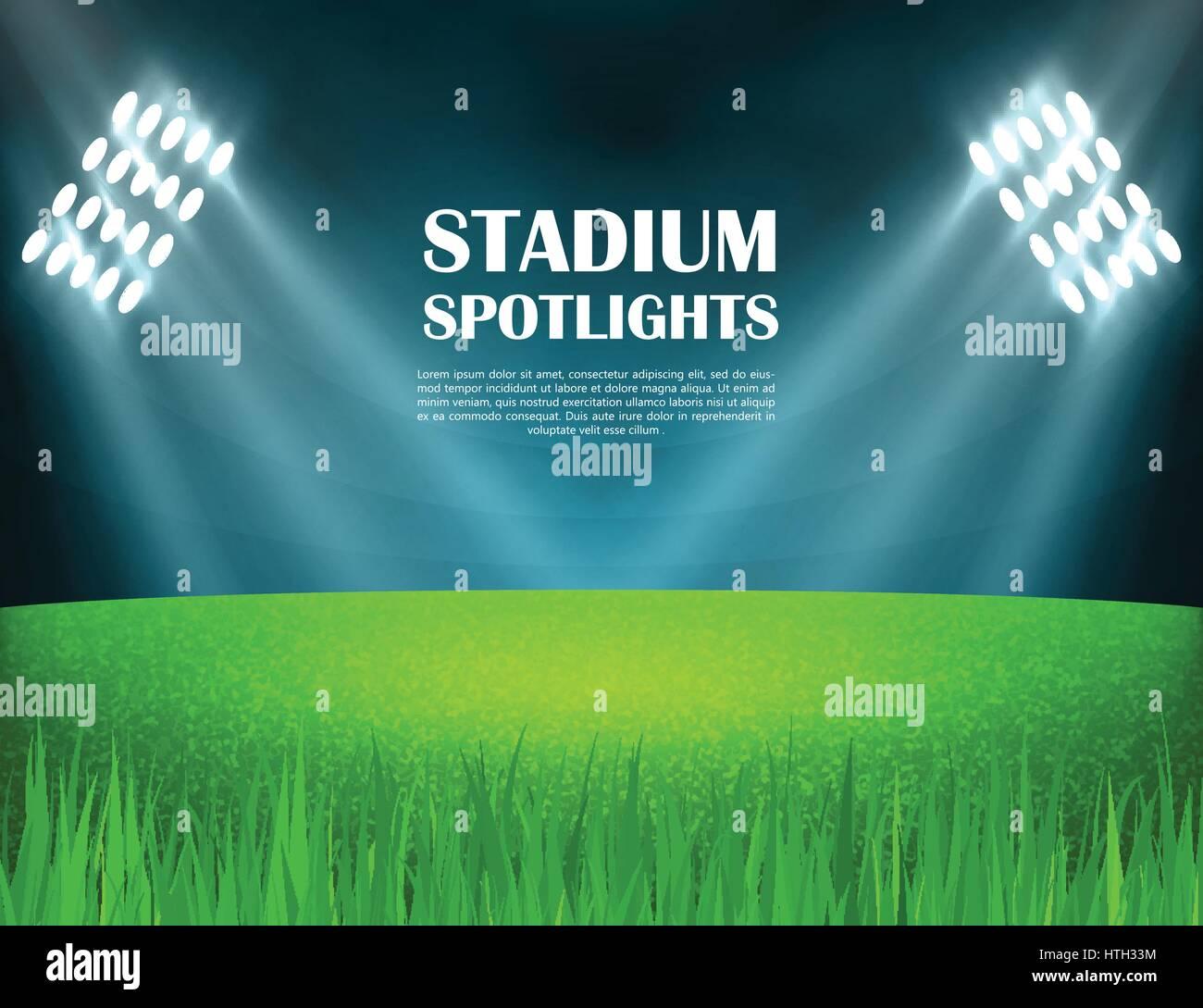 Stadium spotlights concept - Stock Vector