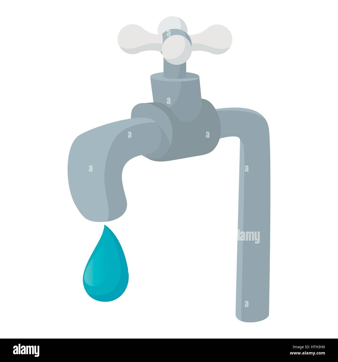 Water tap icon, cartoon style Stock Vector Art & Illustration ...