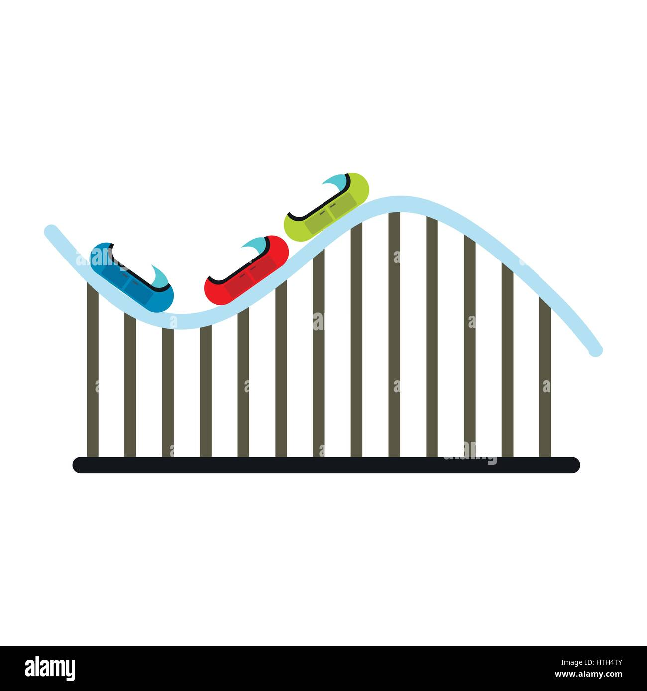 Roller coaster icon - Stock Vector