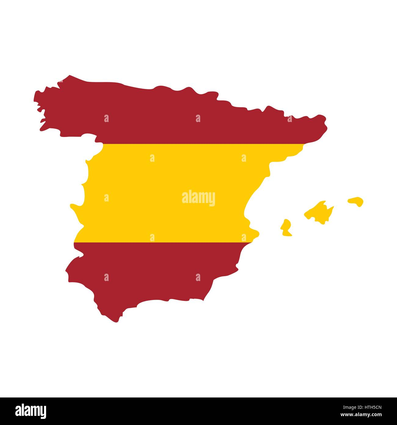 map of spain in spanish flag colors icon
