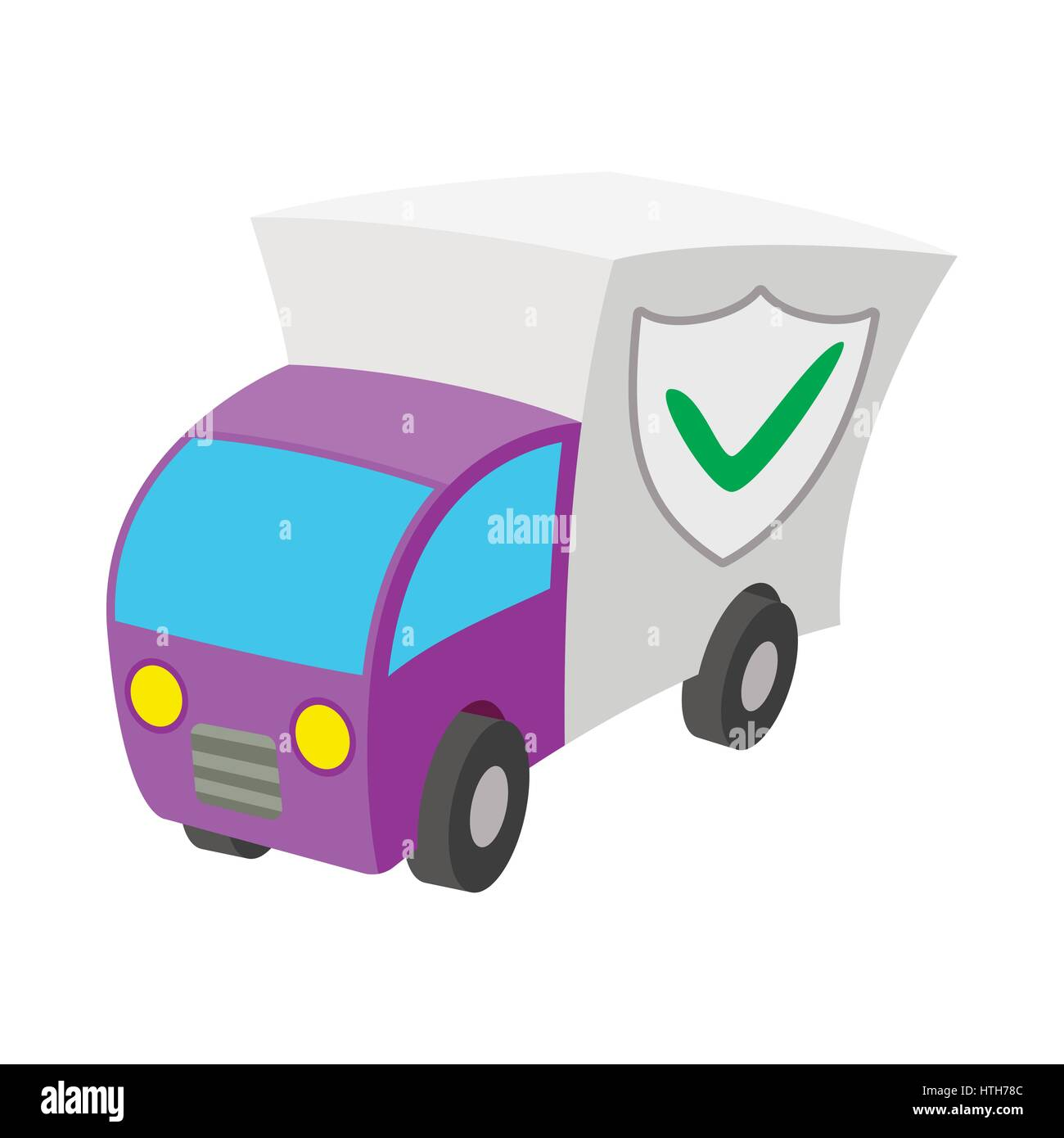 Car guard shield icon, cartoon style  Stock Vector
