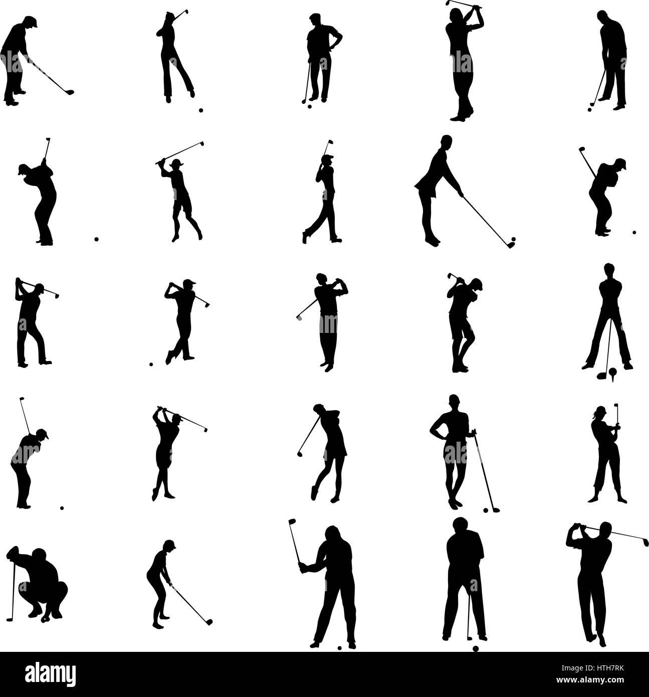 Golf Tournament Silhouette Putting Stock Photos Golf Tournament