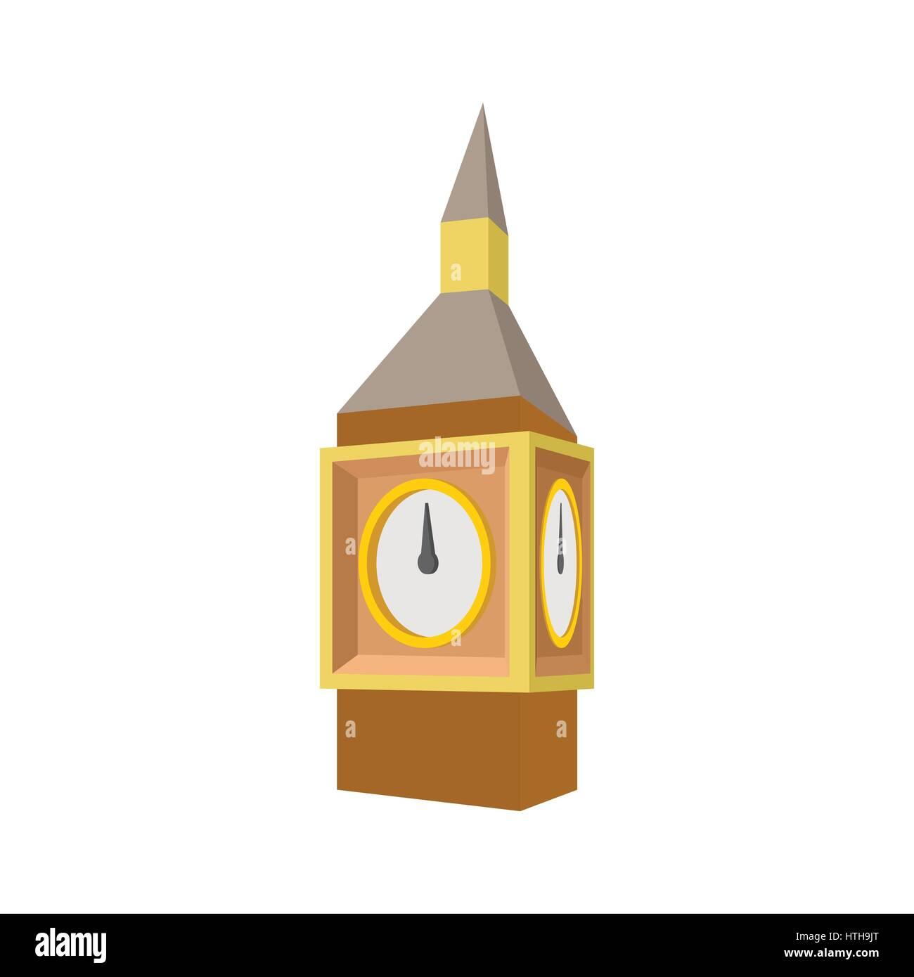 Big Ben in Westminster, London icon, cartoon style - Stock Image