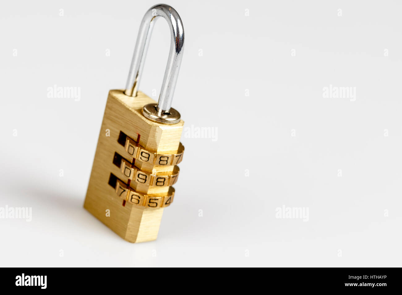 lock on the white - security, privacy - Stock Image