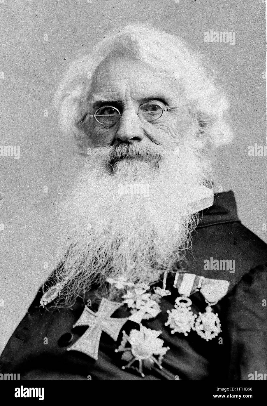 SAMUEL MORSE (1791-1872) American inventor after whom the Morse Code is named - Stock Image