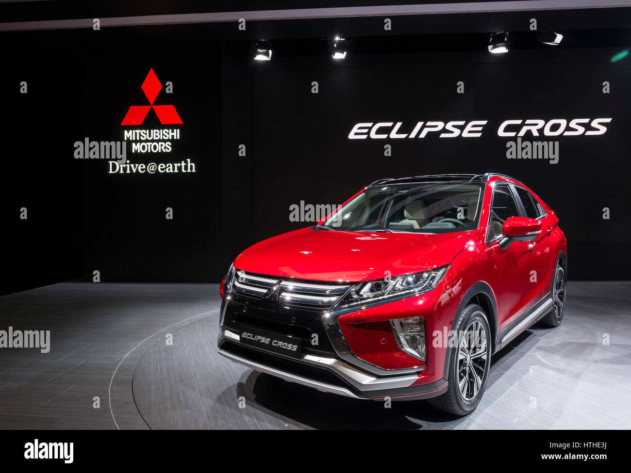 Mitsubishi Eclipse Cross Car At 87th Geneva International Motor Show In  Geneva Switzerland 2017   Stock