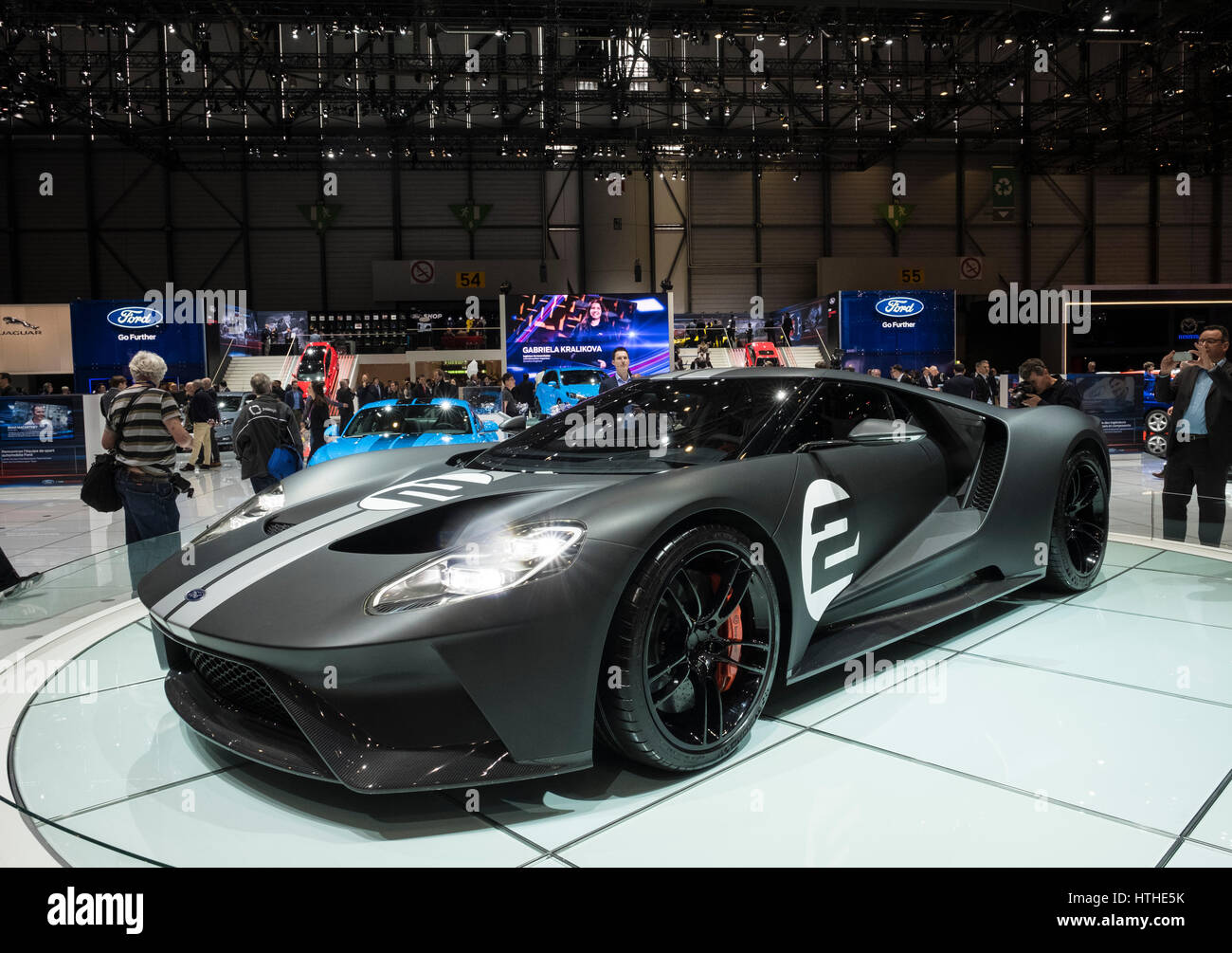 New Ford Gt  Heritage Edition At Th Geneva International Motor Show In Geneva Switzerland