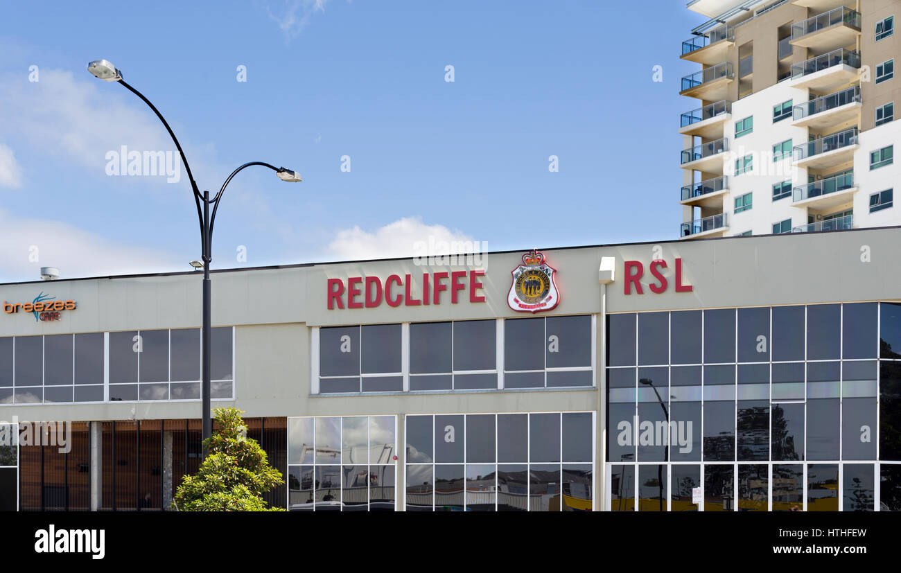 View of the RSL Club in Redcliffe, Australia. - Stock Image