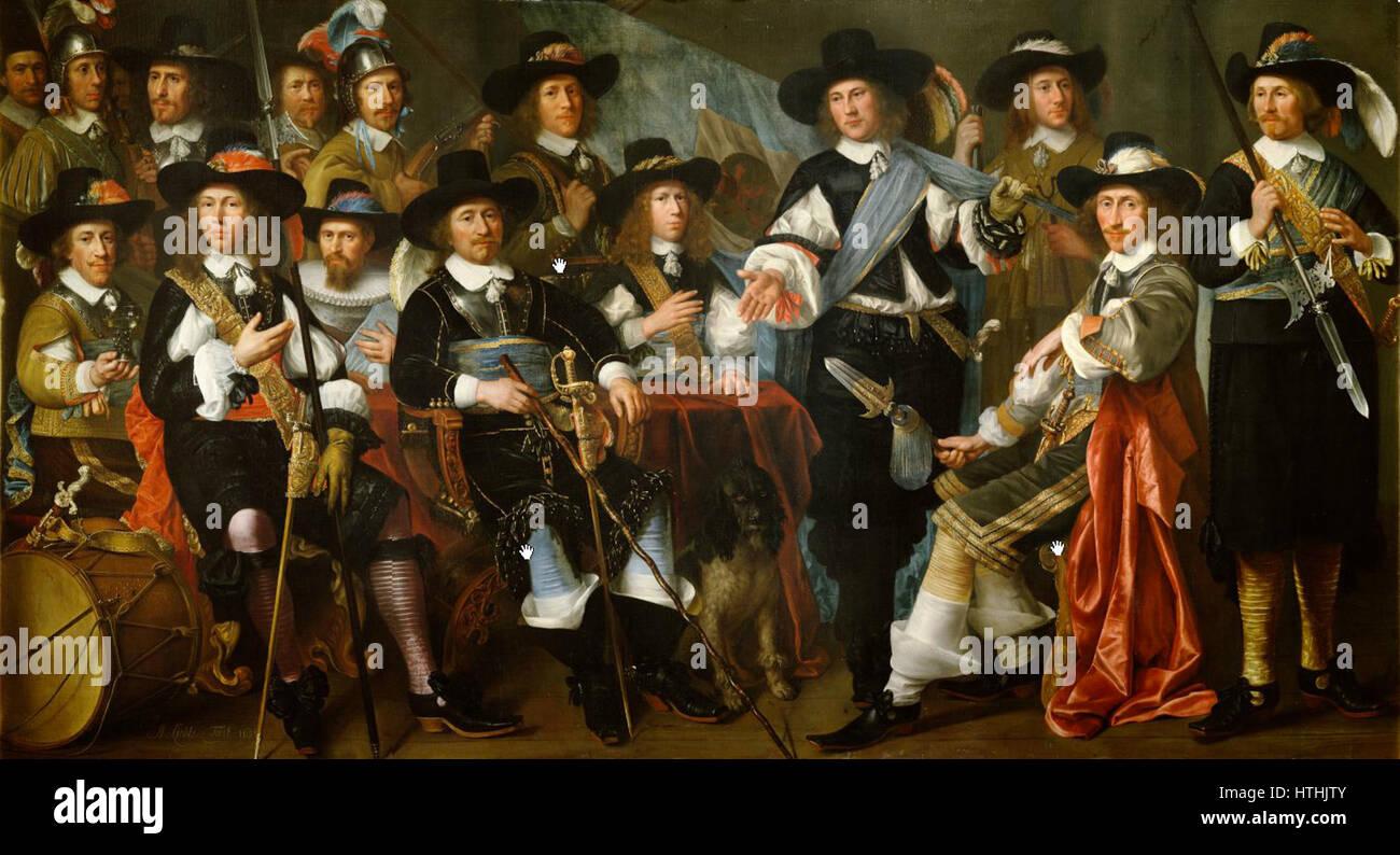 Schuttersstuk Abraham Liedts (1604 of 1605-1668) - Stock Image