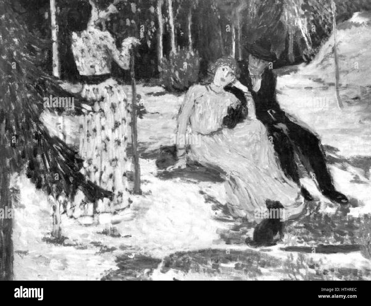 Jan Preisler 17. 2. 1872-27. 4. 1918 - Milenci, studie - Stock Image