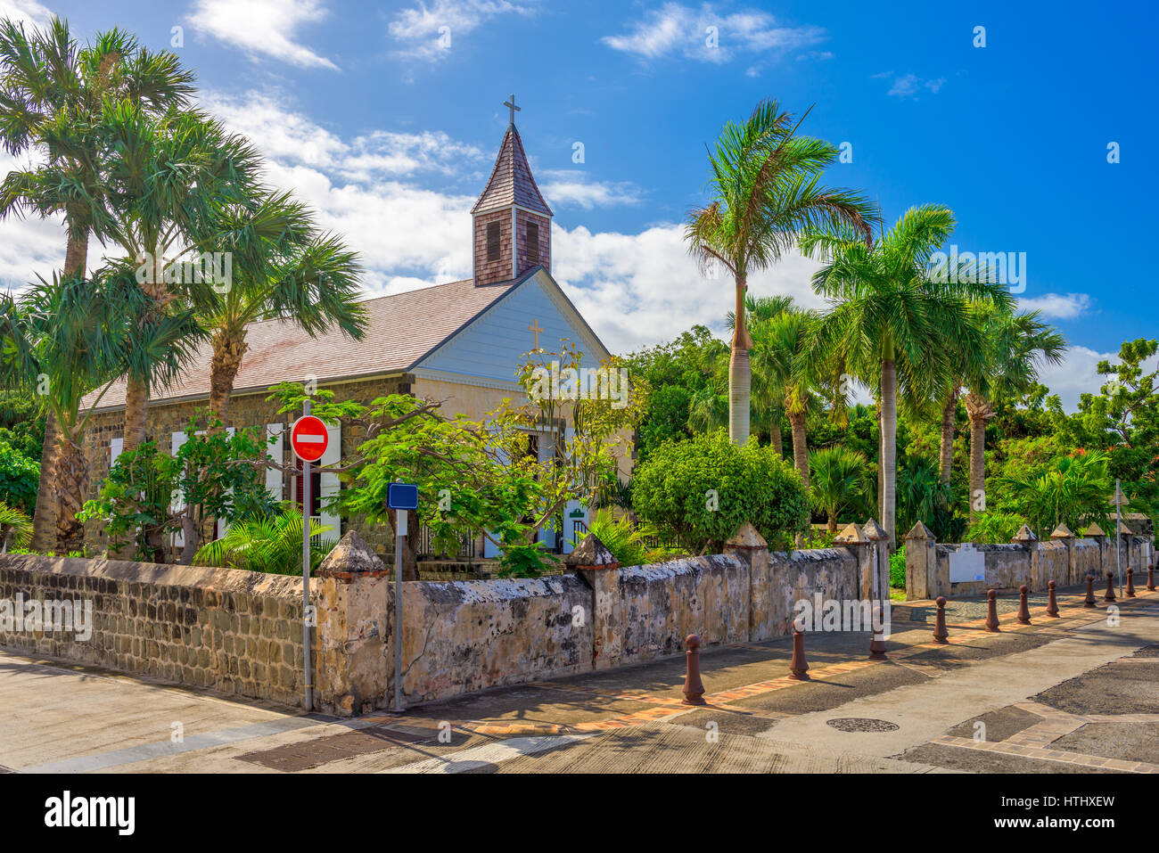Saint Barthelemy Anglican Church. - Stock Image