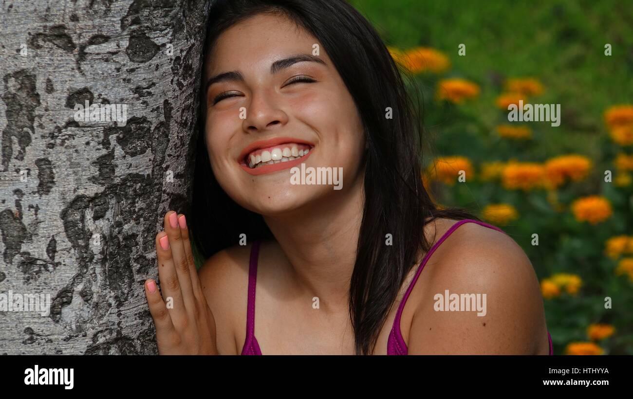 Facial loving teen nail