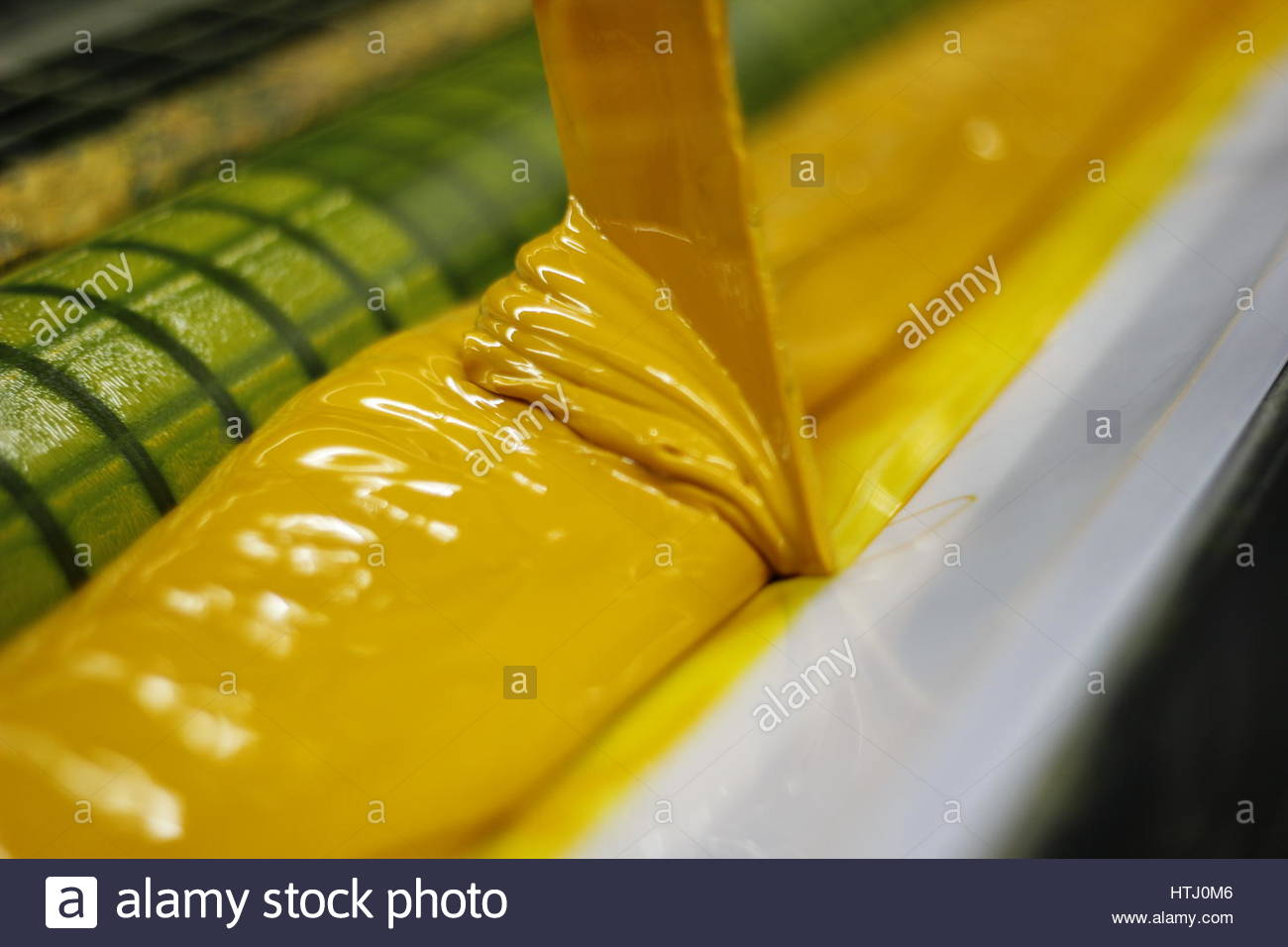 Offset printing color YELLOW - Stock Image