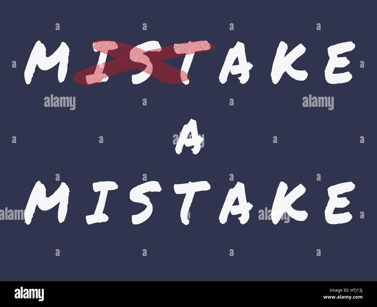Make a mistake. - Stock Image