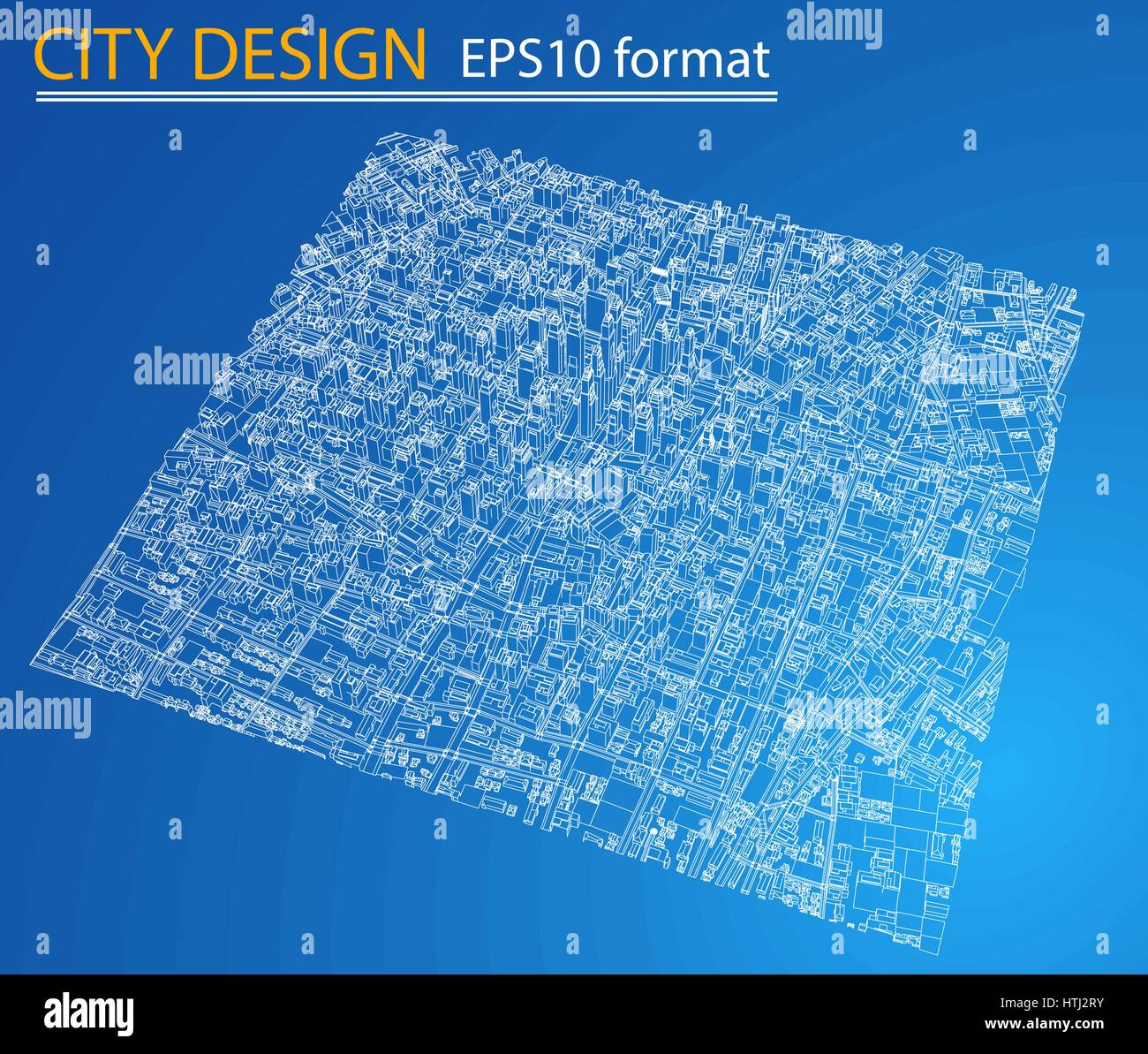 Wire frame city blueprint style vector stock vector art wire frame city blueprint style vector malvernweather Choice Image