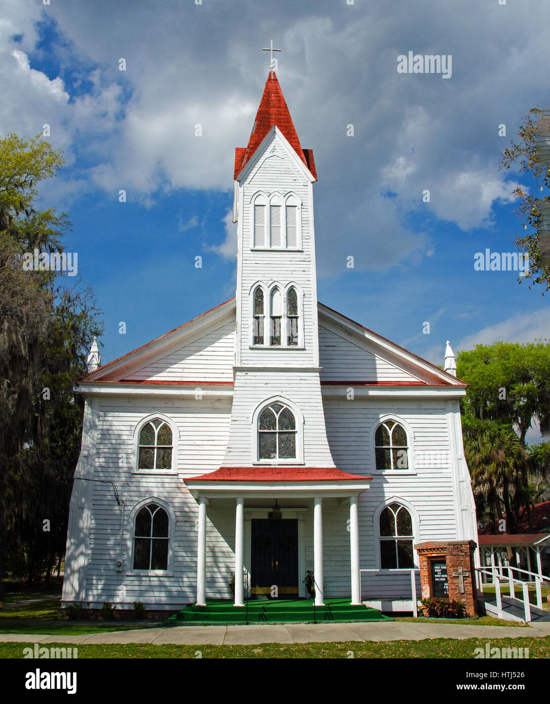 Tabernacle Baptist Church in Historic District of Beaufort, South Carolina dates to 1840 and served as an African - Stock Image