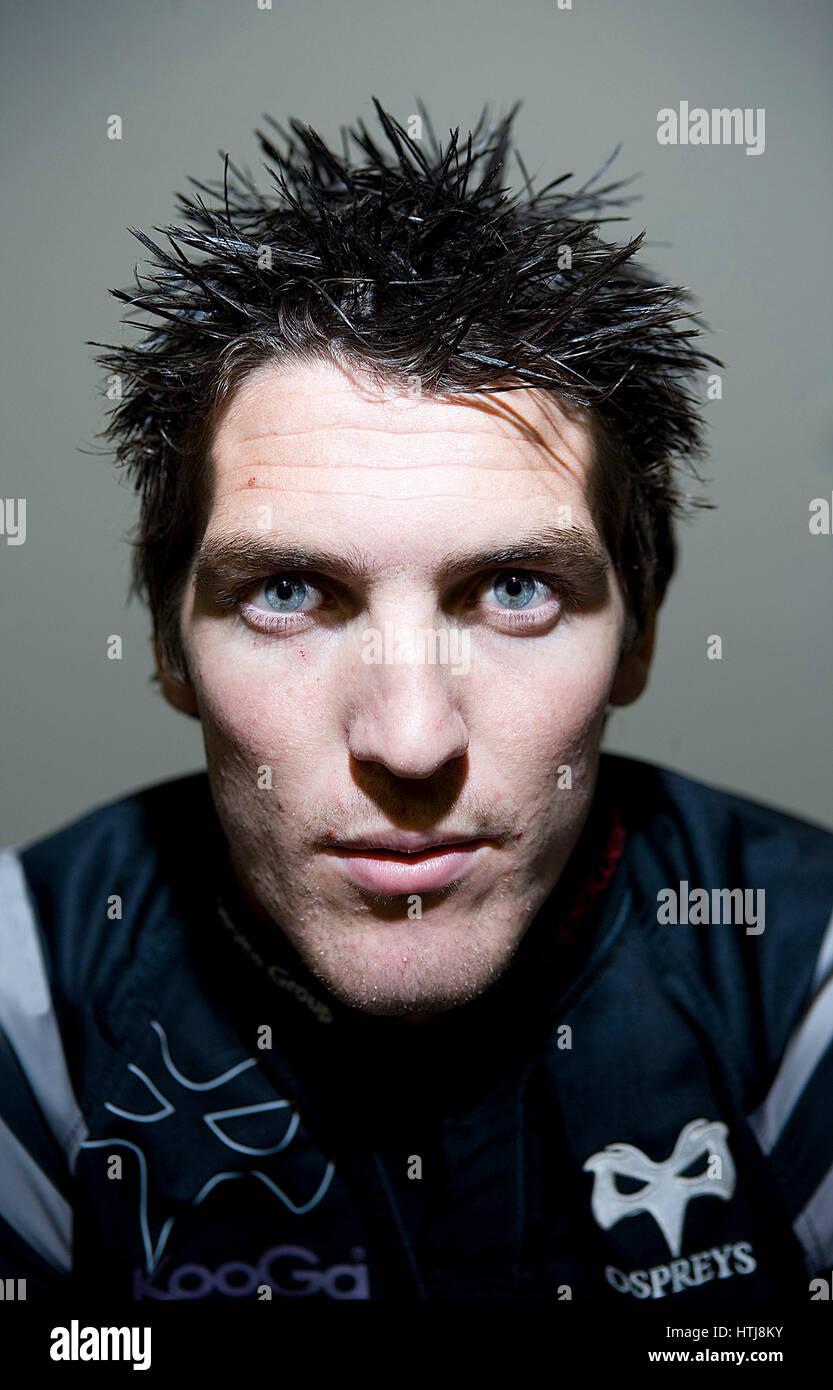 James Hook, Wales International and Ospreys Rugby Player. Stock Photo
