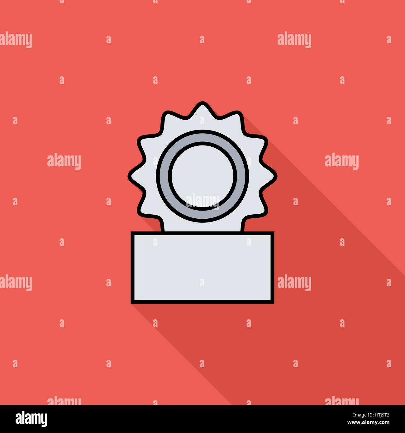 Canned icon. Flat vector related icon with long shadow for web and mobile applications. It can be used as - logo, - Stock Vector