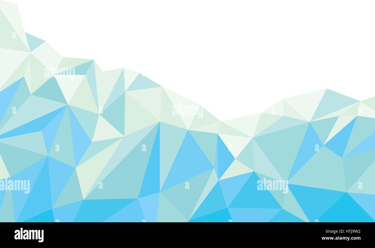 Abstract Light Blue Polygonal Background Vector Stock Vector
