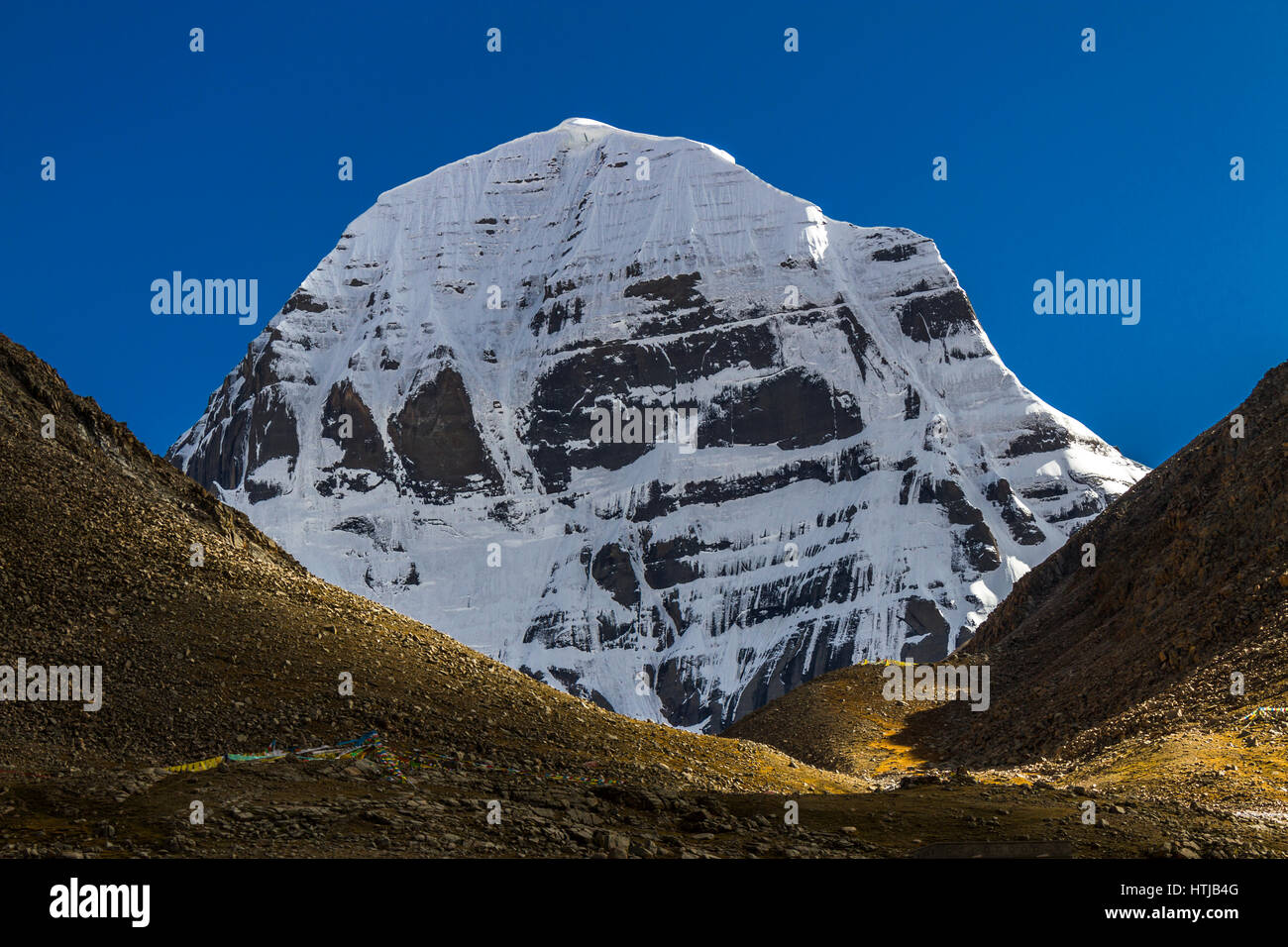 The North Face Of Mount Kailash In Sun Light A View From Dirapuk