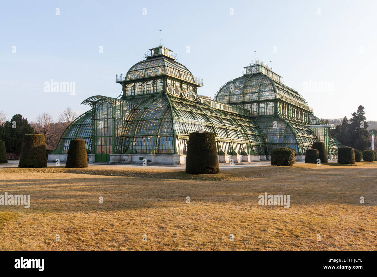 Palm House or Palmenhaus in the Schönbrunn palace gardens, Vienna, Austria. - Stock Image