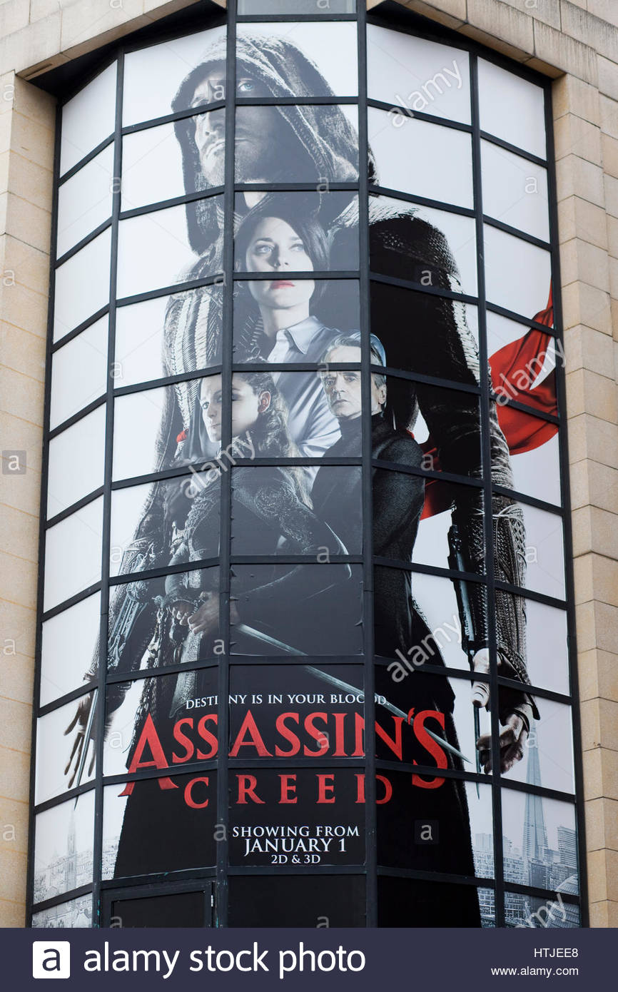 Assassin's Creed promotional poster London - Stock Image
