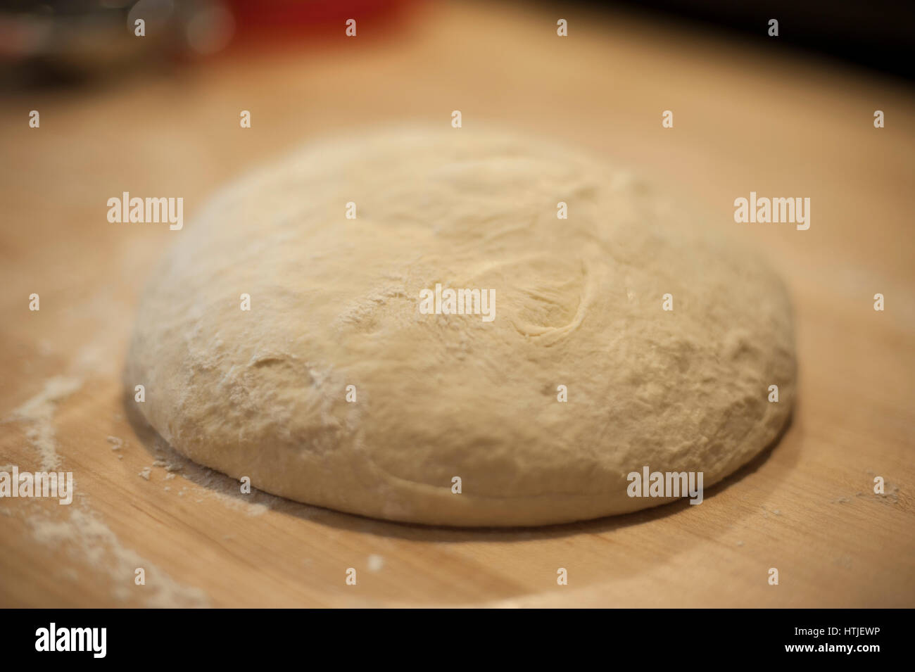 Focaccia Bread Dough in a Ball in Ready For Its First Rise - Stock Image