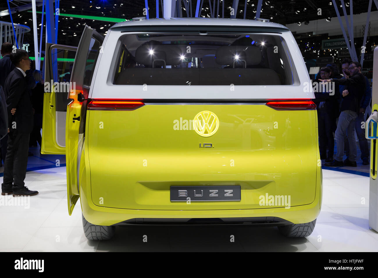 Volkswagen I.D. Buzz concept at the 87th International Geneva Motor Show - Stock Image