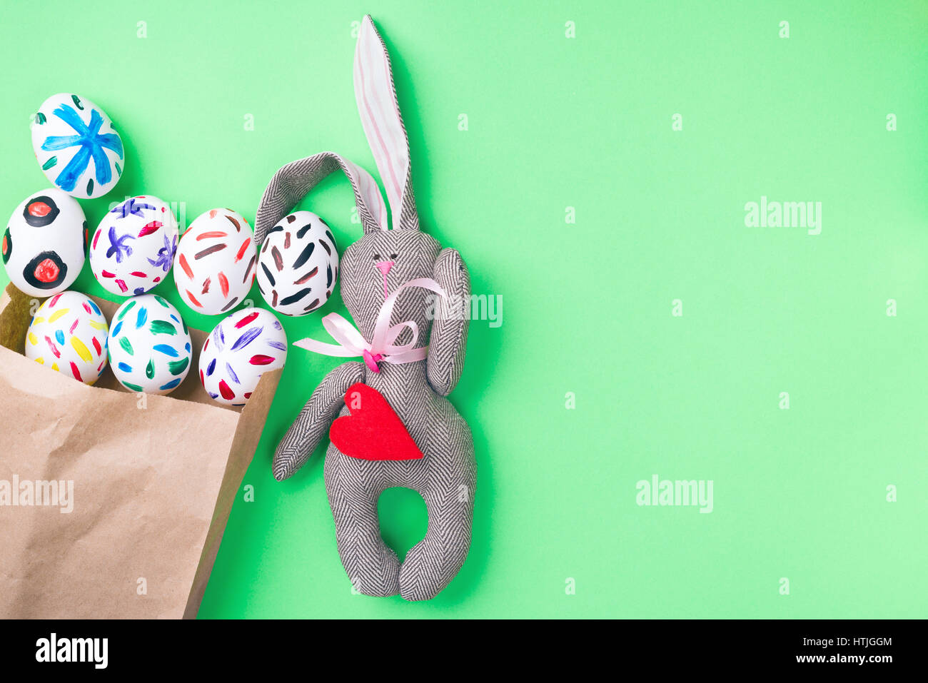 Easter eggs in a packet - Stock Image