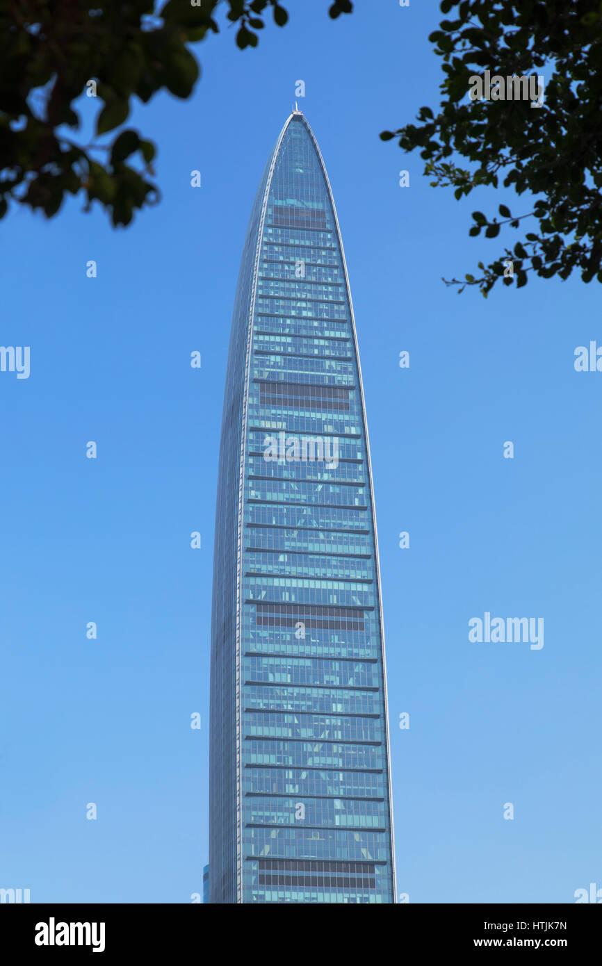 KK100 (KingKey 100) skyscraper, Shenzhen, Guangdong, China - Stock Image