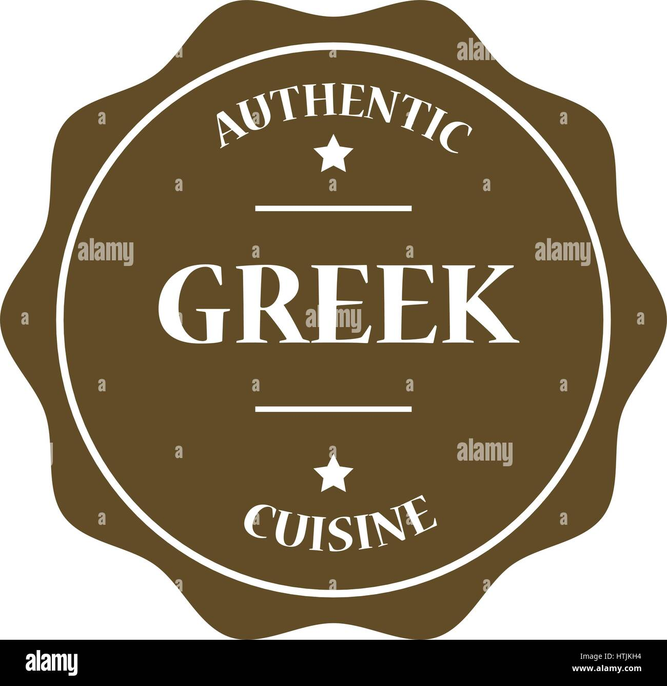 Greek stamp illustration - Stock Vector
