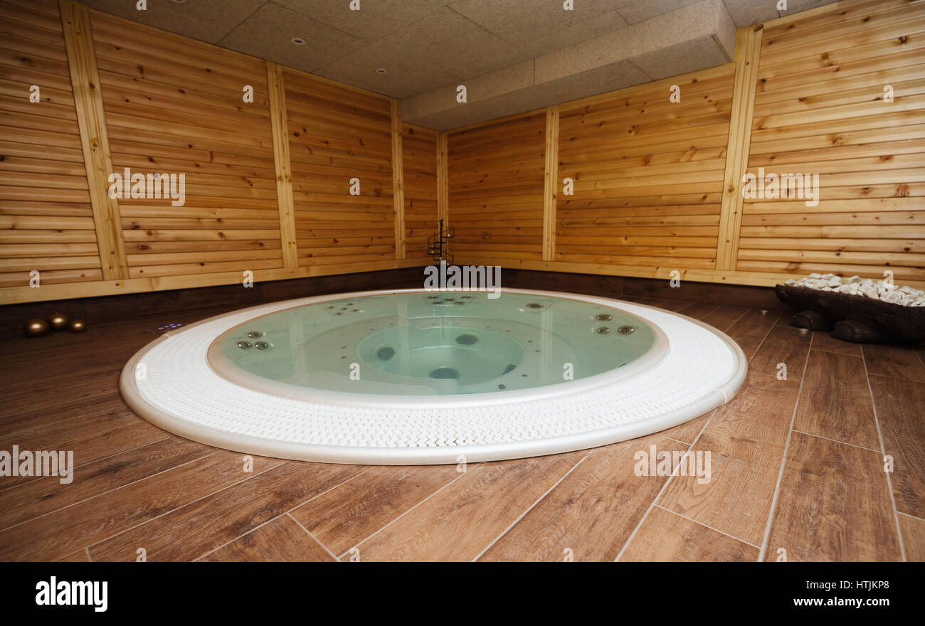 Modern jacuzzi in spa resort is good for general health Stock Photo ...