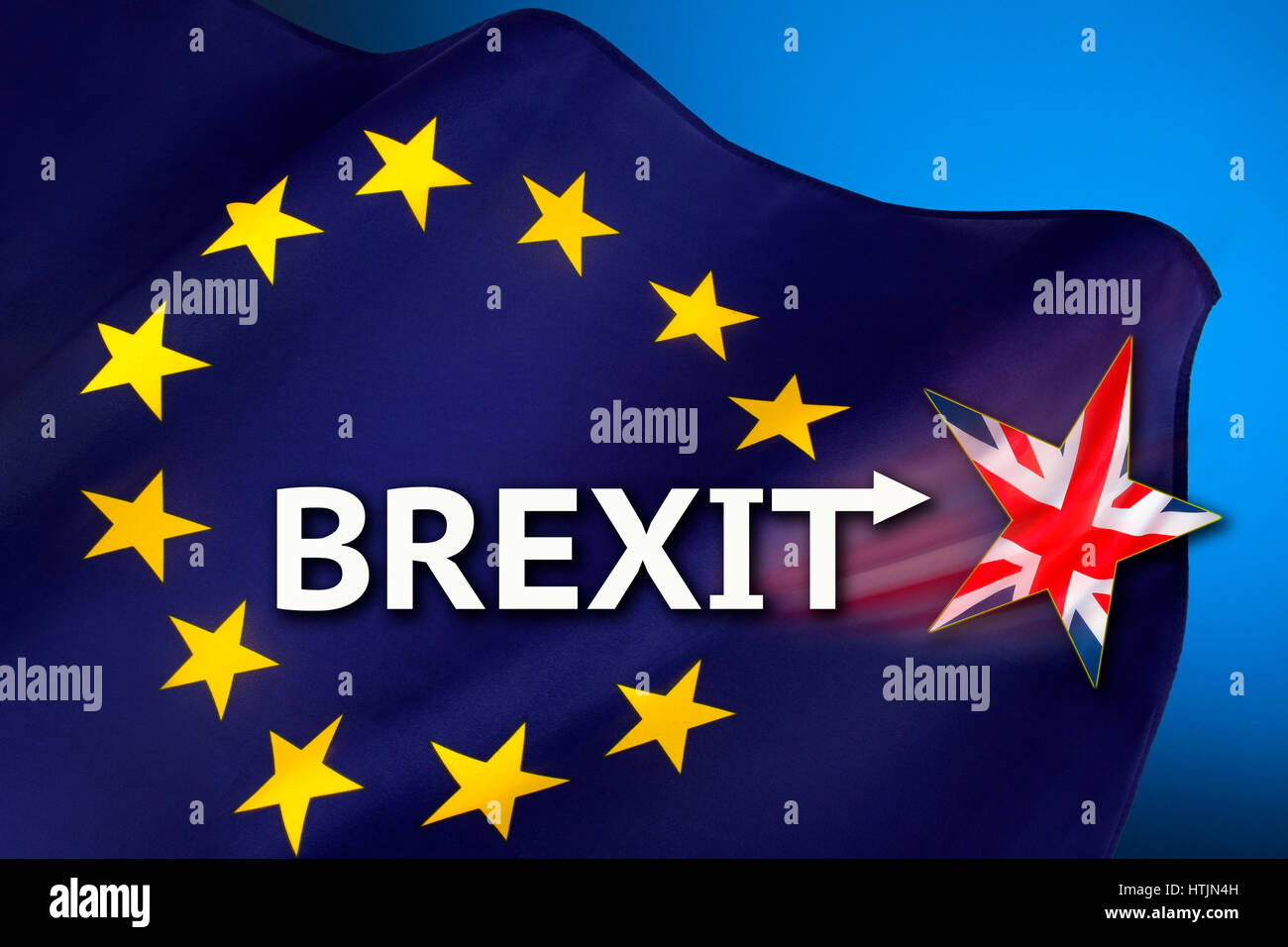 BREXIT - British withdrawal from the European Union. - Stock Image