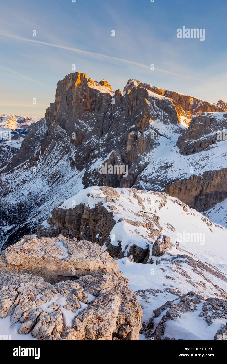 The Pale di San Martino massif. The Dolomites Stock Photo