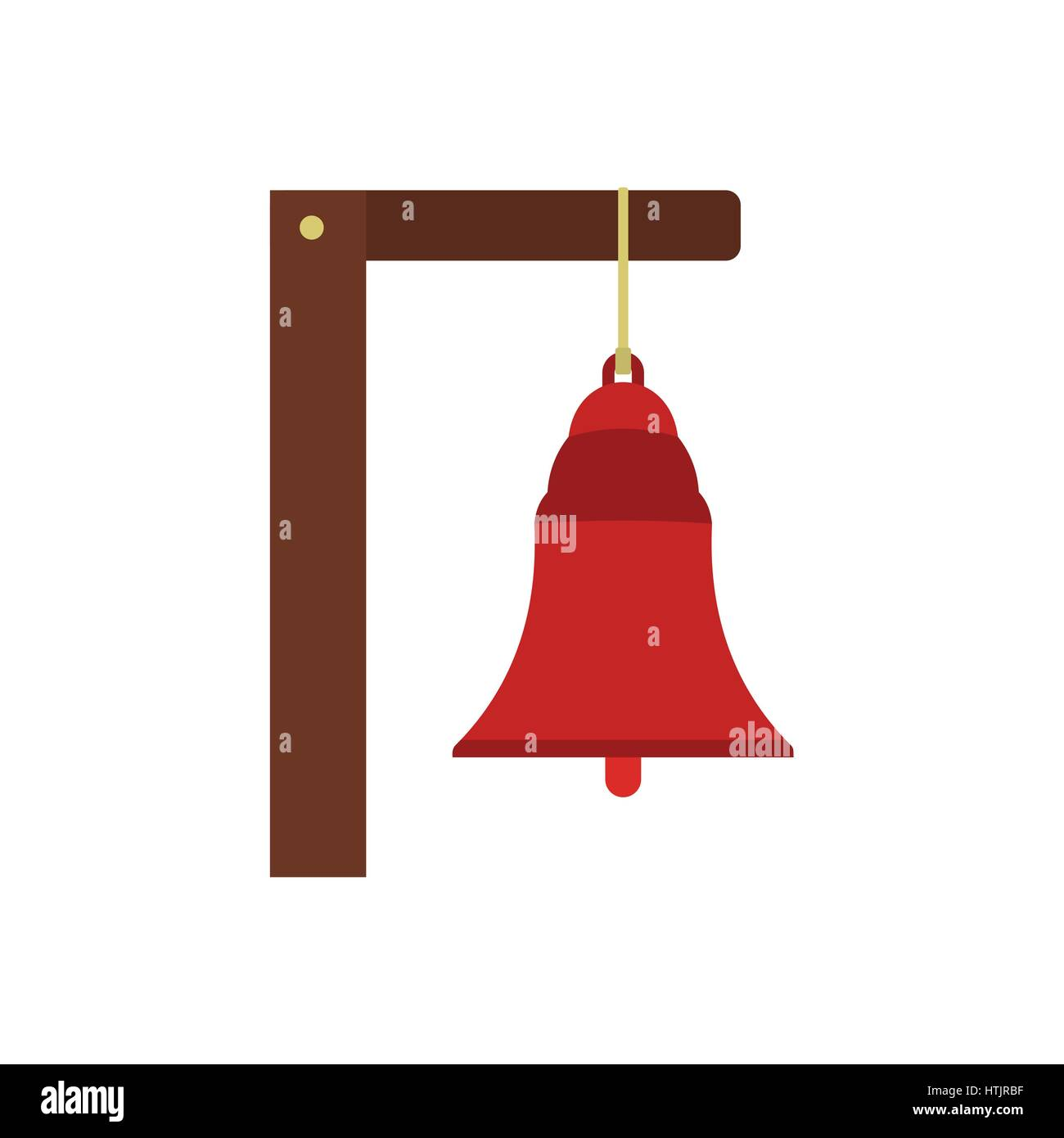 Alarm bell icon  - Stock Image