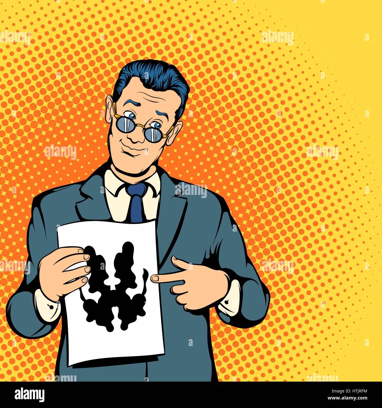 Psychologist concept, comics style - Stock Vector