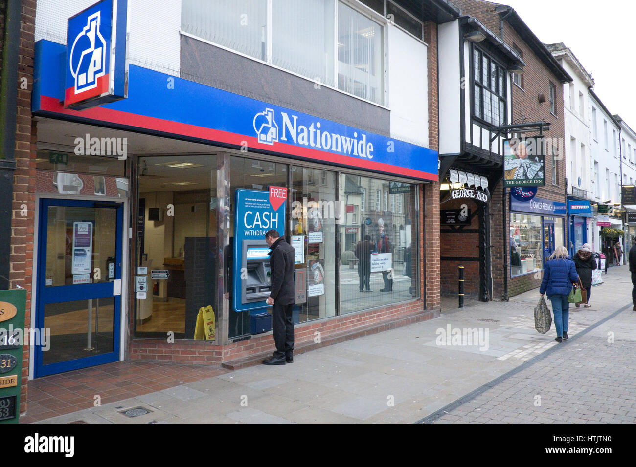 Nationwide Bank In Andover. Nationwide Building Society is a British mutual financial institution and the largest - Stock Image
