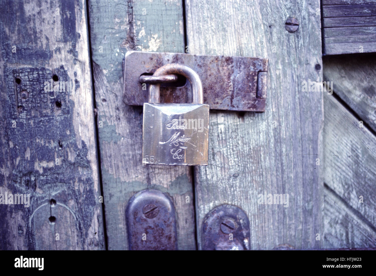 Old Ford Motor Company padlock - Stock Image