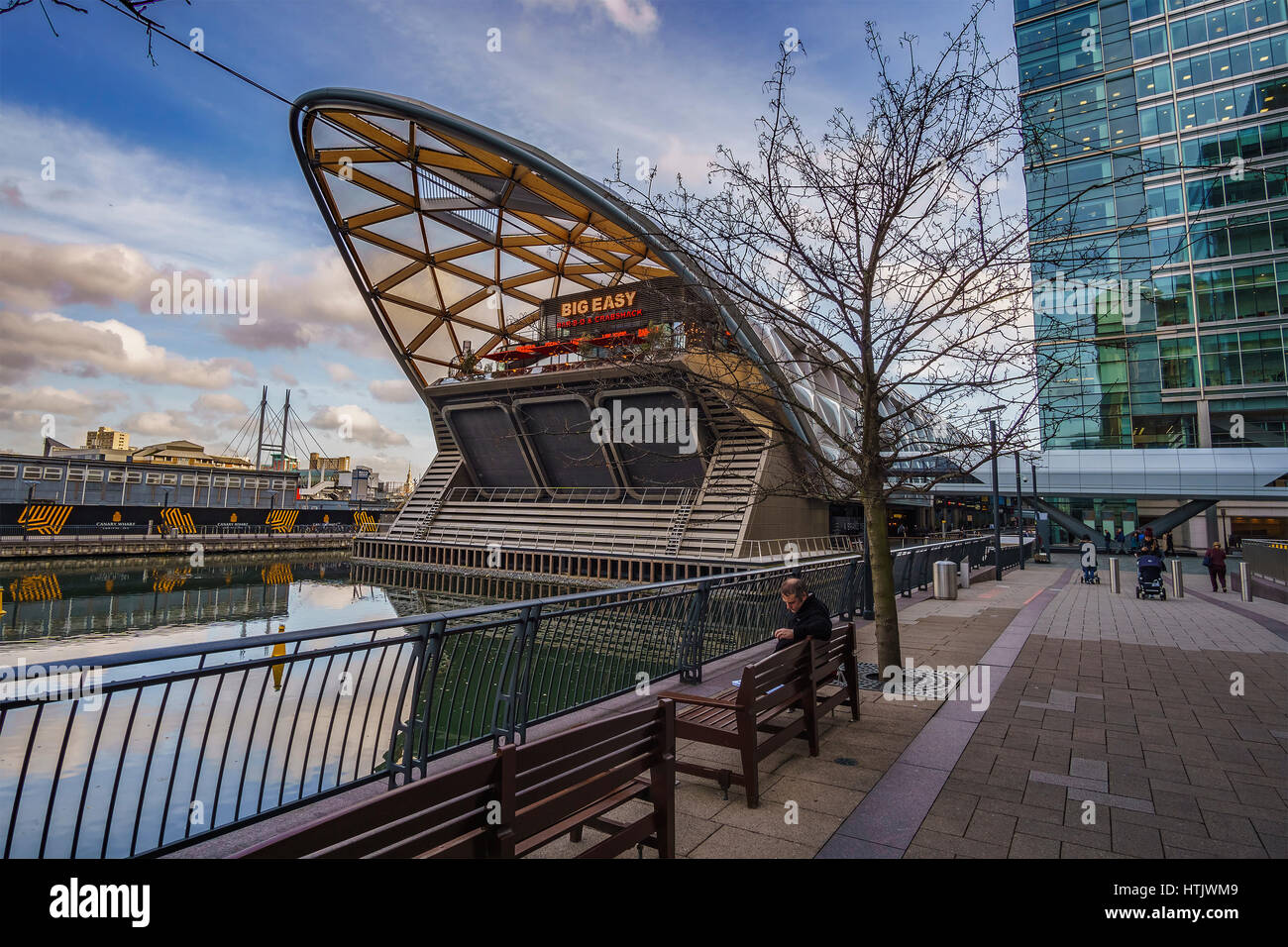 The new Canary Wharf DLR station. It is a London Underground station on the Jubilee line, between Canada Water and - Stock Image