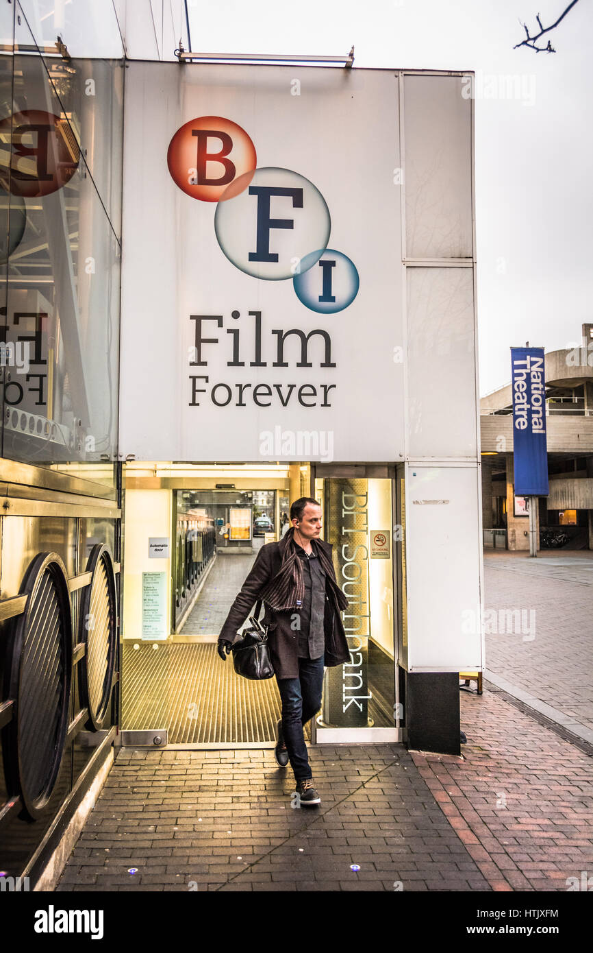 The British Film Institute (BFI) on London's Southbank, Waterloo, London, SE1, UK - Stock Image