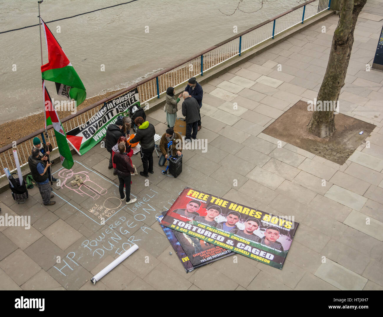 Free the Palestinian Hares Boys Stock Photo