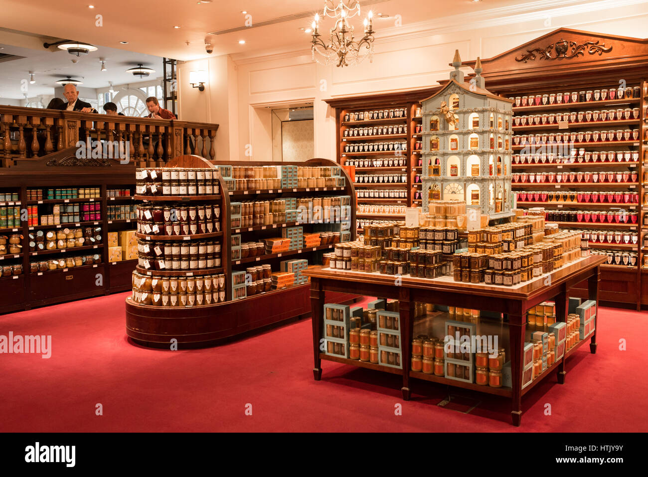 Interiors of Fortnum & Mason. Fortnum & Mason is an upmarket department store renowned for teas and wine - Stock Image
