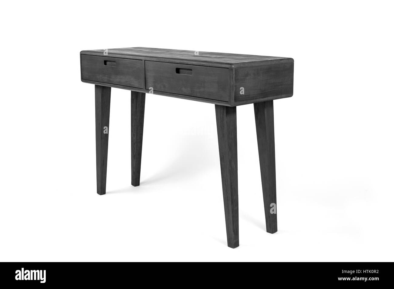 A Contemporary Console Table Made Out Of Burnt Wood