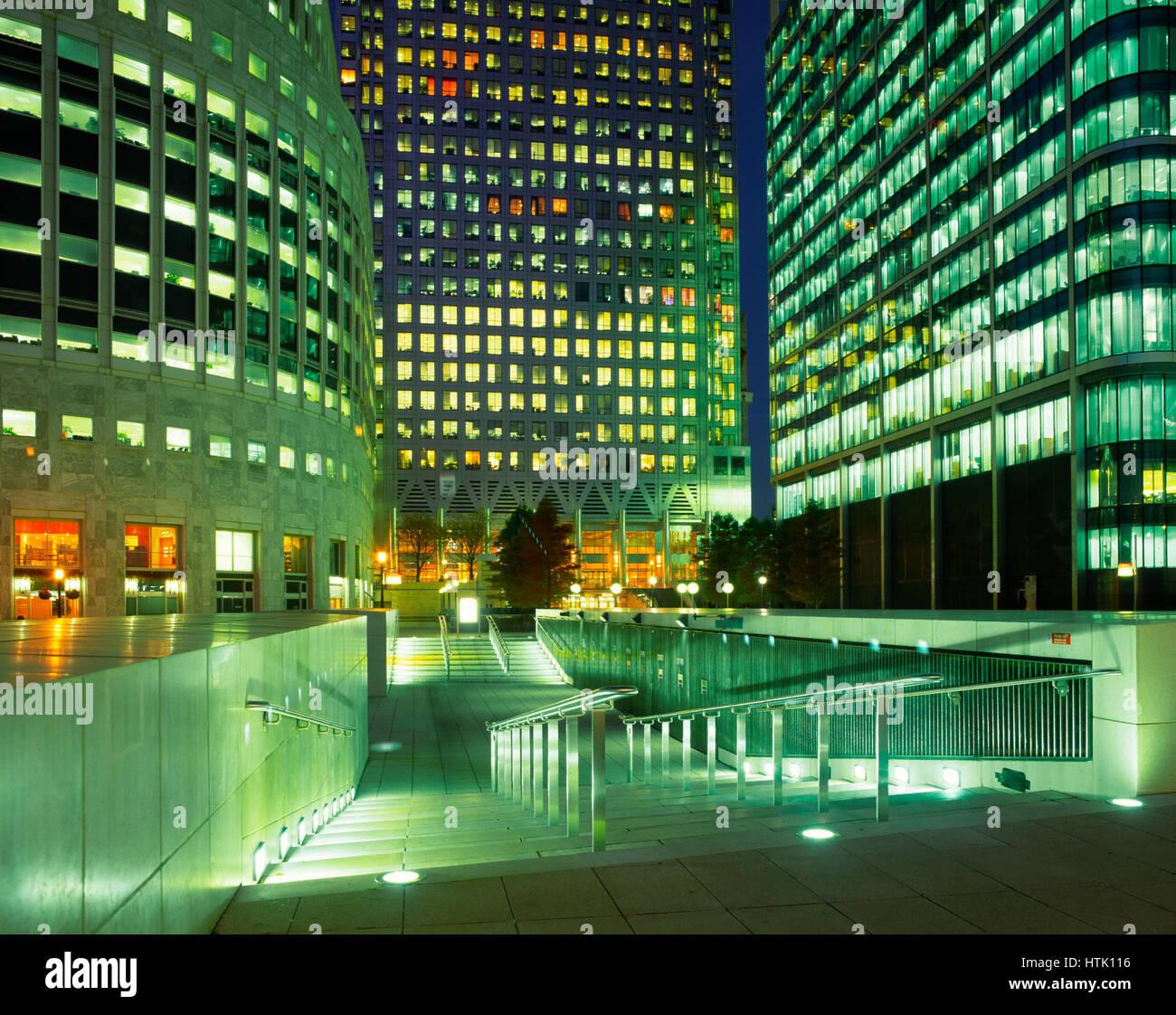 Canary Wharf Financial Centre, Docklands, London,England, UK - Stock Image