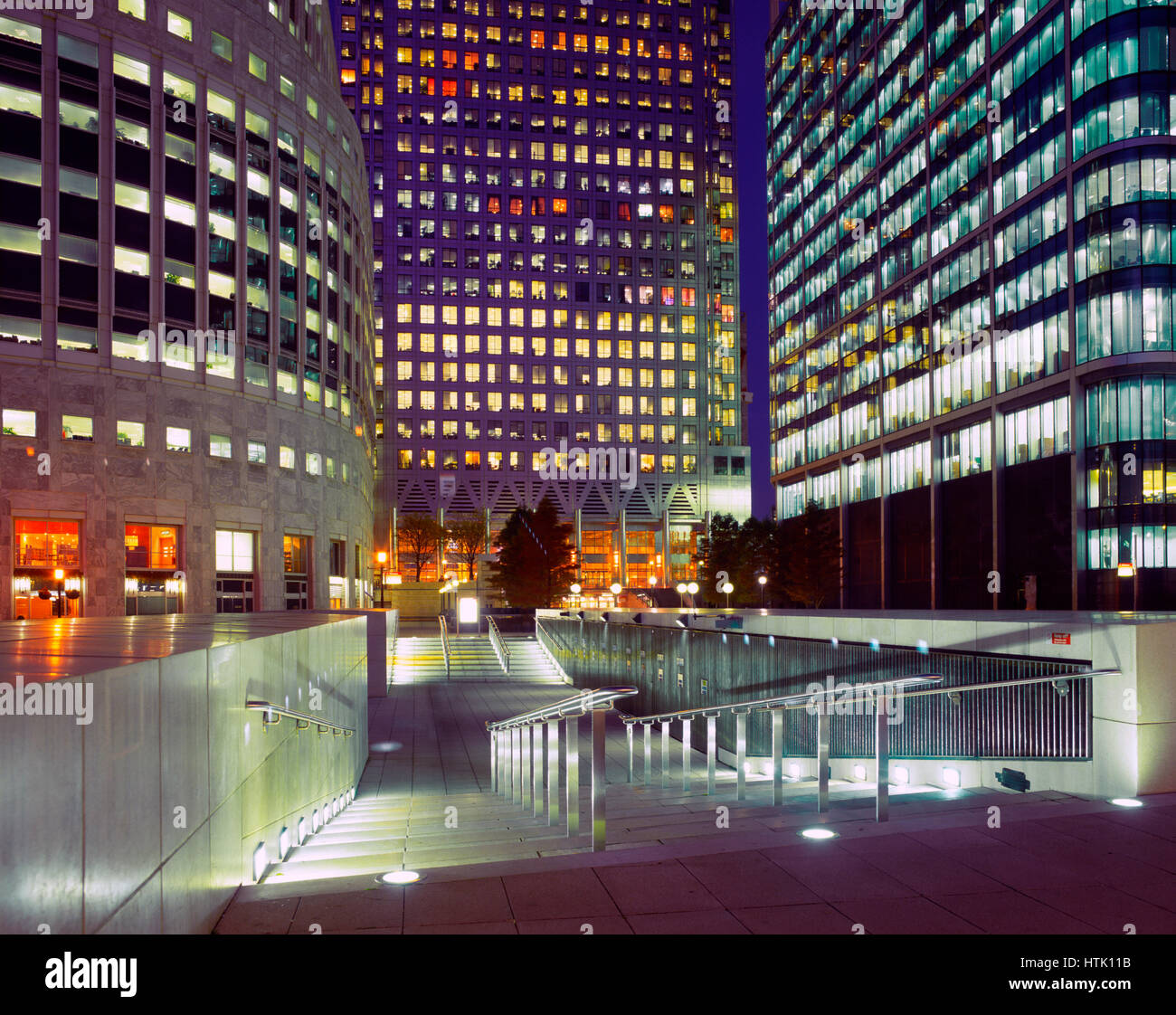 Canary Wharf Financial Centre, Docklands, London,England, UK. - Stock Image