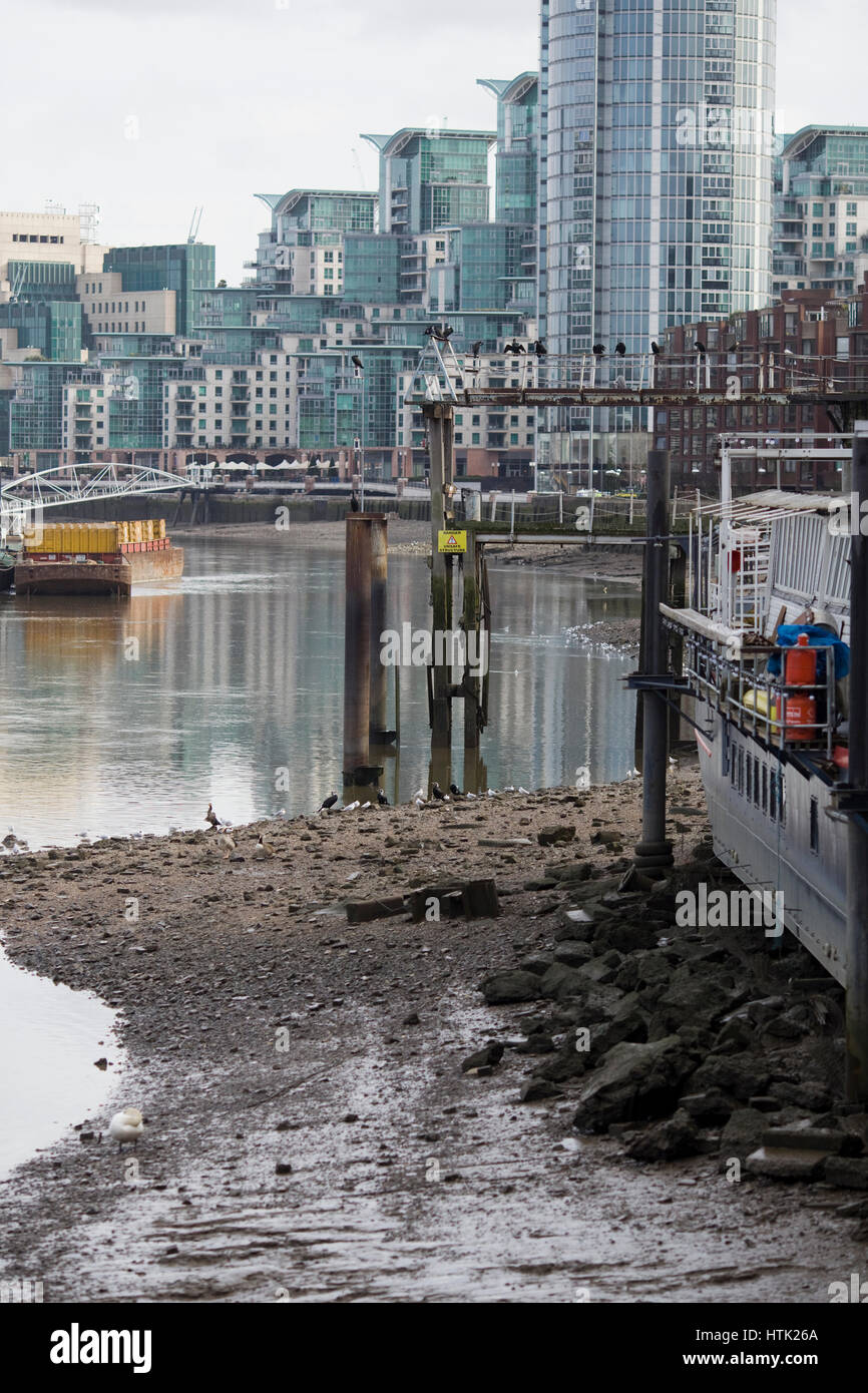 View of St George Wharf, London from Nine Elms - Stock Image