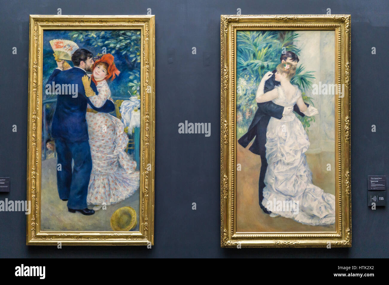 Impressionist painting at the Musee d'Orsay,Auguste Renoir, Paris, France. - Stock Image