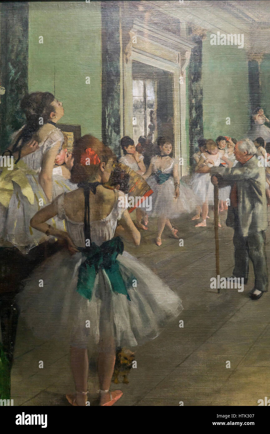 Impressionist painting at the Musee d'Orsay,Edgard Degas, Paris, France. - Stock Image