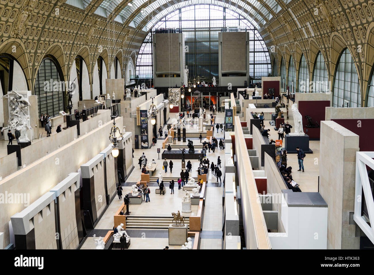 Main Hall of the Musée d'Orsay, Paris, France. - Stock Image