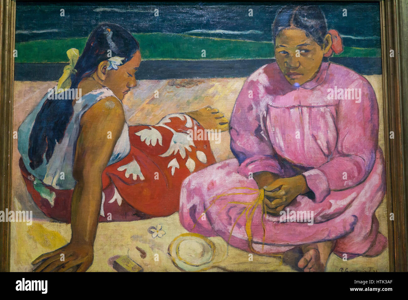 Impressionist painting at the Musee d'Orsay,Paul Gauguin, Paris, France. - Stock Image
